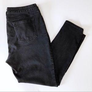 Style & Co Skinny Leg Crop Ankle Jeans Black Denim